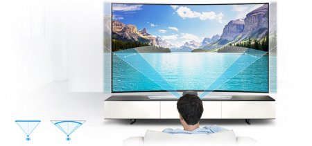 SAMSUNG Curved UHD TV 9 серии c диагональю 55""